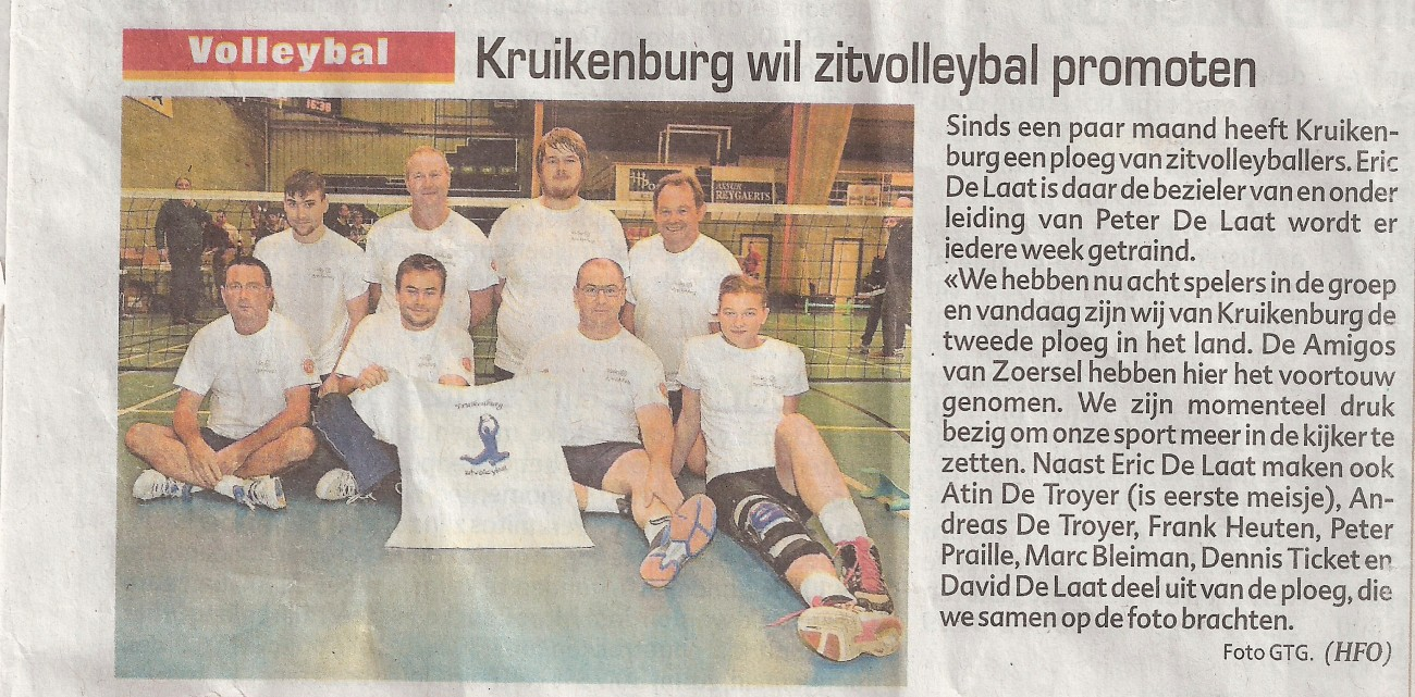 zitvolley demo Asse-Lennik