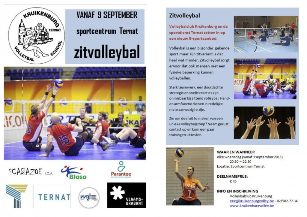 zitvolleybal flyers opstart